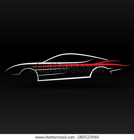 Sport Car Outline Abstract Website Graphic Stock Vector Royalty
