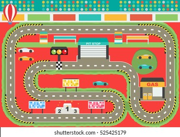Kids Race Track Images Stock Photos Vectors Shutterstock