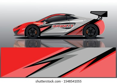 Sport car racing wrap design. vector design. - Vector eps 10
