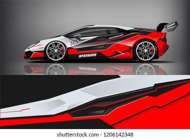 Sport car racing wrap livery design. vector design.