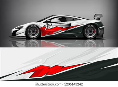 Sport car racing wrap livery design. vector design.
