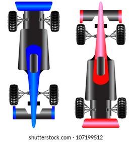 Sport car scheme top view. vector illustration.