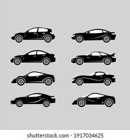 sport car type model object silhouette