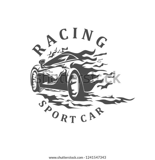 Sport cars racing vector, logo sport cars racing