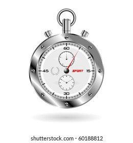 Sport chrono isolated over white square background