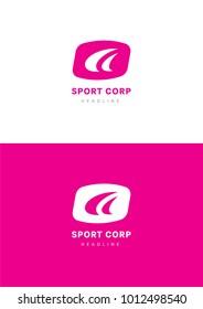 Sport corporation logo template.