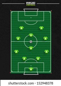 Sport court series   Soccer strategy formation and position player