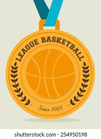 Sport design over beige background, vector illustration.