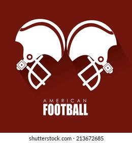 Sport design over red background, vector illustration
