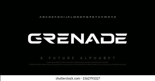 Sport digital modern alphabet fonts. Abstract typography technology electronic, sport, music, future creative font. vector illustration