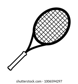 Sport equipment simple tennis racket icon