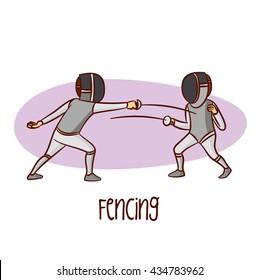 Sport. Fencing. Vector Illustration