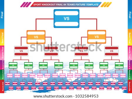 Sport Fixture Result Template Final Round Stock Vector (Royalty Free ...