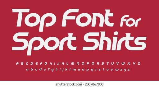Sport font alphabet sport shirts letters. Italic round typographic design. Sans serif fashion letter set for speed logo, dynamic headline, monogram and presentation type. Isolated vector typeset - Shutterstock ID 2007867803