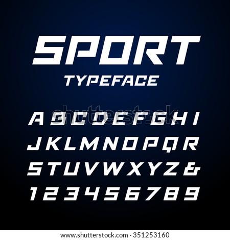 25715e21c Vetor stock de Sport Font Vector Alphabet Latin Letters (livre de ...
