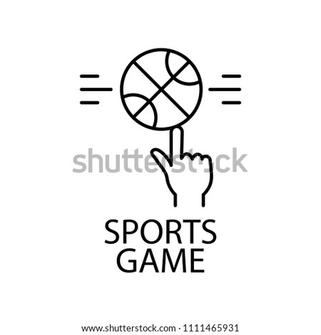 Sport Game Outline Icon Element Gaming Stock Vector Royalty Free - Game outline