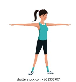 sport girl exercise training image