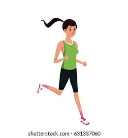 sport girl running exercise training