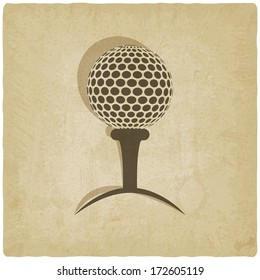 sport golf old background - vector illustration