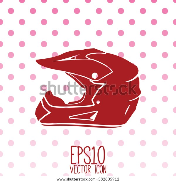 Sport Helmet vector icon. Flat style for graphic and web design, Modern simple vector sign. Internet concept. Trendy symbol for website design web button, mobile app.