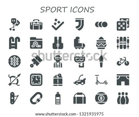 sport icon set 30