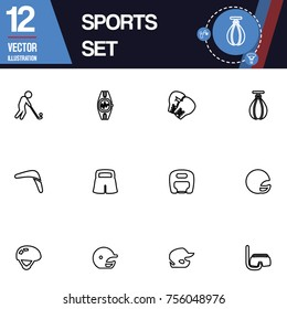 Sport icon vector collection set