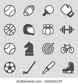 Sport Icons. Sticker Design. Vector Illustration.