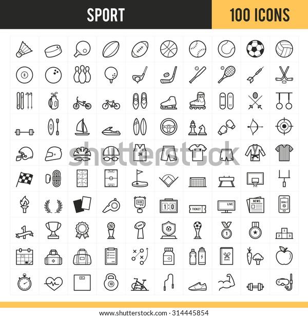 Спортивные иконы. Векторная иллюстрация.