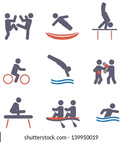 Sport icons. Vector set
