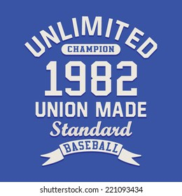 sport illustration, baseball, t-shirt graphic,
