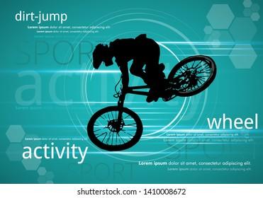 Sport illustration of bmx rider