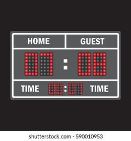Sport illustration scoreboard. Score game display vector