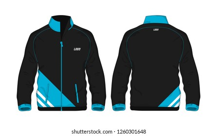 Sport Jacket Blue and black template for design on white background. Vector illustration eps 10.