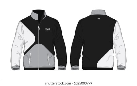 Sport Jacket Gray and black template for design on white background. Vector illustration eps 10.