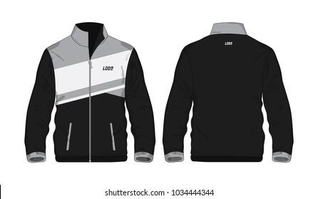 Sport Jacket Gray and black template shirt for design on white background. Vector illustration eps 10.