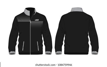 Sport Jacket Gray and black template for design on white background. Vector illustration eps 10.