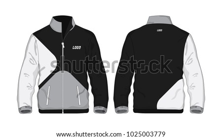 Sport Jacket Gray Black Template Design Stock Vector Royalty Free