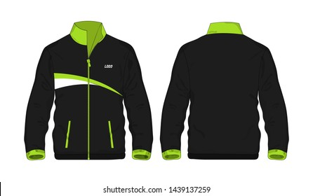 Sport Jacket green and black template for design on white background. Vector illustration eps 10.