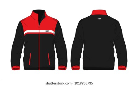 Sport Jacket red and black template for design on white background. Vector illustration eps 10.