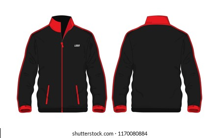 Sport Jacket red and black template for design on white background. Vector illustration eps 10