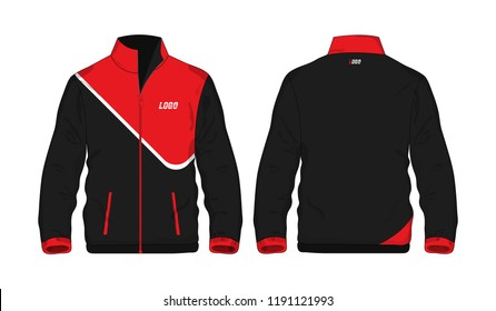 Sport Jacket Red and black template shirt for design on white background. Vector illustration eps 10.