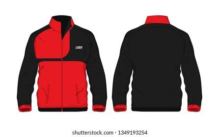 Sport Jacket Red and black template shirt for design on white background. Vector illustration eps 10.