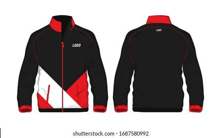 Sport Jacket red and black template for design on white background. Vector illustration eps 10.