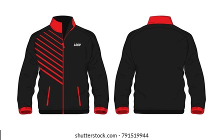 Sport Jacket red and black template for design on white background. Vector illustration eps 10