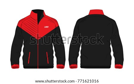 sport jacket red black template design のベクター画像素材