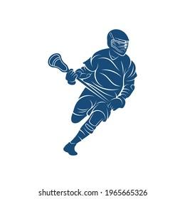 Sport Lacrosse design vector illustration, Creative Lacrosse logo design concept template, symbols icons