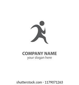 sport logo design element, people logo design vector