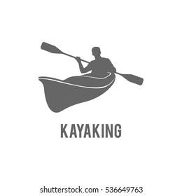 Sport logo emblem. Canoe adventure. Badge, design element.