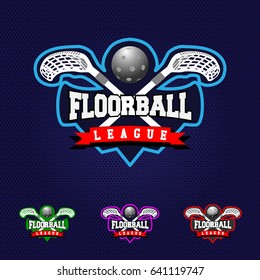 Sport Logo. Floorball Sticker.