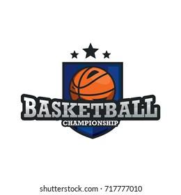 Sport  Logo Template Design Vector, Design Concept, Creative Symbol, Basketball Emblem